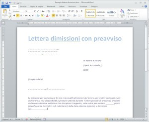Lettera dimissioni con preavviso capire la busta paga for Ccnl legno e arredamento